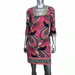 Laundry by Shelli Segal Pink Butterfly Print Dress